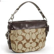 Coach Signature Zoe Handbag Khaki Mahogany Photo