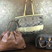 Coach Signsture Yellow Diaper Tote W/michael Kors Cognac Uptown Astor Hobo Bag Photo