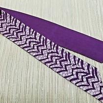 Coach Silk Ponytail Scarf Reversible in Purple Zebra Print Bag Hair Tie - Euc Photo