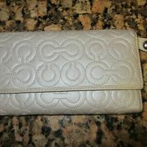 Coach Silver Logo Wallet Clutch Purse Photo