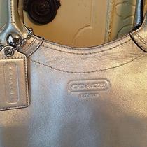 Coach Silver Metallic Handbag  Photo