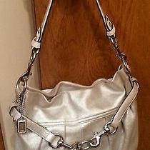 Coach Silver Shimmer Authentic Purse Price  Cut Photo