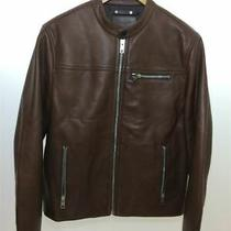 Coach Single Riders Jacket/s/cowhide/brown Photo