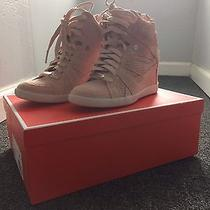 Coach Size 6 Blush Pink Suede Wedge Sneaker Photo