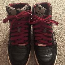 Coach Size 8.5 High Top Rare Sneakers Photo
