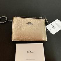 Coach Skinny Mini Id Casemetallic Platinumnwt87077 Photo