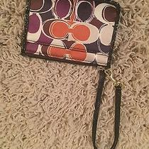 Coach Slim Id Wristlet Oncelot Print New With Tags Photo