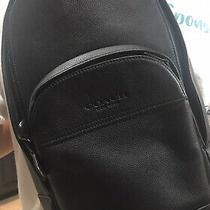 Coach Sling Backpack Houston Black Leather Crossbody  Photo