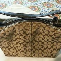Coach Small Bag  Brown  With Leather Trim No Sign of Wear Cute  Purse. Photo