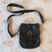 Coach Small Black Leather Crossbody Bag Photo