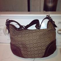 Coach Small Brown Hobo With Suede Trim and Leather Strap Photo