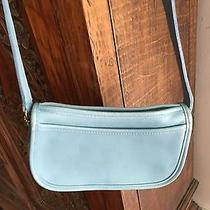 Coach Small Classic Baby Blue Leather Crossbody Shoulder Bag Photo