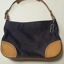 Coach Small Denim and Leather Handbag Photo