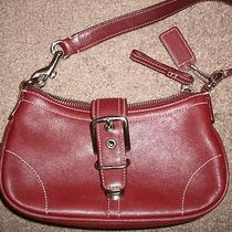 Coach Small Hobo Dark Red/burgandy  Photo
