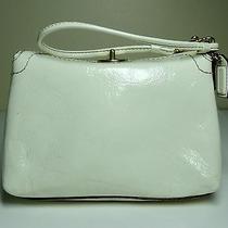 Coach Small Ivory-White Patent Leather Wrist Bag Photo