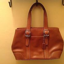 Coach Small Leather Tan Satchel Photo