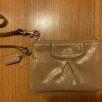 Coach Small Leather Wallet Gold Color Good Condition Photo