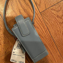 Coach Small Light Blue Leather Case With Strap Photo