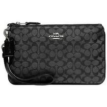Coach Small New Signature Jacquard Wristlet  86098 Nwt Choose Colorblack /beig Photo