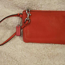 Coach Small Red Wristlet Purse Photo
