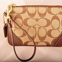 Coach Small Size Brown/ Beige Clutch - New Never Used Photo
