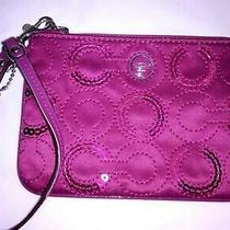 Coach Small Wristlet Wallet Clutch Zip Coin Pouch  Photo