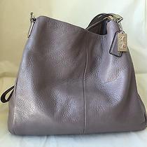 Coach Smokey Purple/gray Edie Handbag Photo