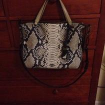 Coach Smythe Satchel in Diamond Python Leather Retail 498.00 Gently Used Photo