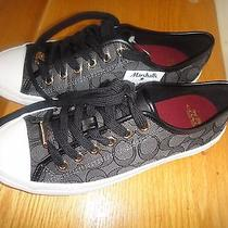 Coach Sneaker for Woman Size 7 Black  C Logolace on N Slip On Photo