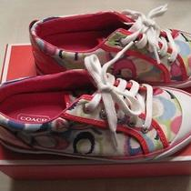 Coach Sneakers / Barret Poppy Size 6.5 Excellent Pre-Owned Condition Photo