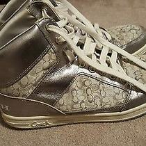 Coach Sneakers (Silver)size 10 Good Photo