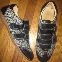 Coach Sneakers Size 11 Black and Grey Susanna Photo