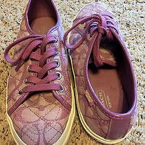 Coach Sneakers Tennis Shoes Purple Photo