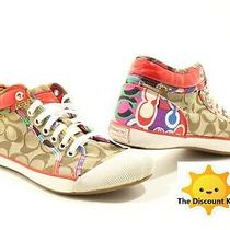 Coach Sneakers Zoe Size 6&1/2 Colorful Shoes Free Shipping A0221b4coa65y Photo