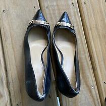 Coach Soft Shine Black Leather Pumps High Heels Women's Shoe Size 8 1/2 Euc Photo