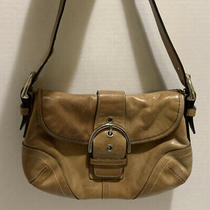 Coach Soho 9247 Vintage Brown/tan Leather Adjustable Shoulder Bag Purse Hangtag Photo