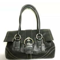 Coach Soho Black Leather Satchel Flap Handbag Shoulder Bag Purse K0793-F10913 Photo