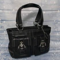 Coach Soho Black Leather Satchel Purse Handbag M0679 F08a09 Photo