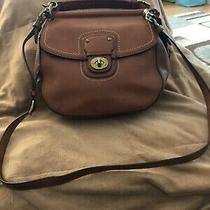 Coach Soho Brown Leather Buckle Flap Hobo Shoulder and Short Strap Bag Purse Photo