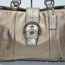 Coach Soho East West Buckle Flap Bronze Leather Tote Shopper Bag 18751 Photo
