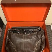 Coach Soho Hobo Brown Leather Shoulder Bag Purse Photo