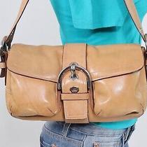 Coach Soho Medium Tan Leather Shoulder Hobo Tote Satchel Purse Bag Photo