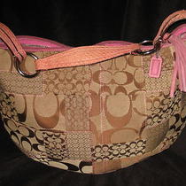 Coach Soho Patchwork sig.& Leather Hobo/baglargekhaki/brown/pink3688nice Photo