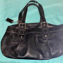 Coach  Soho Pleated Black Leather Satchel Purse Shoulder Bag F13732 Photo