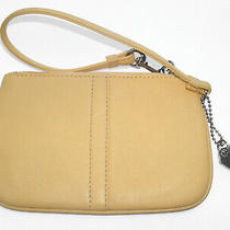 Coach Soho Small Summery Yellow Leather Wristlet Great Condition Free Shipping Photo