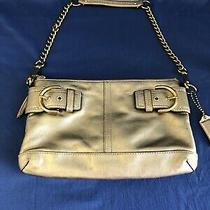 Coach Soho Soft Gold Metallic Leather Chain Strap Convertible Clutch Bag F13455 Photo