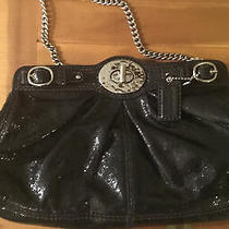 Coach  Special Edition Black Turnlock Handbag Purse Rare Beautiful Photo
