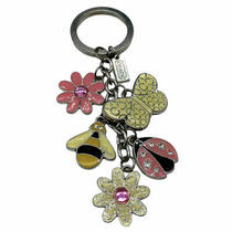 Coach Spring Flower Ladybug Butterfly Bee Enamel Keychain Key Ring Fob Photo