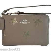 Coach Star Canyon Corner Zip Sm Wristlet Phone Case Bag Purse in Gift Box Silver Photo