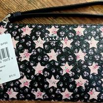 Coach Star Corner Zip Sv/midnight Multi Wristlet Purse Black Pink Summer New Tag Photo